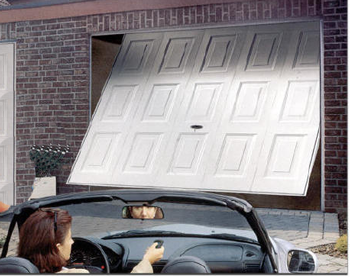 closing the garage door